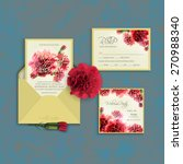 invitation set template with... | Shutterstock .eps vector #270988340