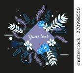 beautiful flower background art ... | Shutterstock .eps vector #270988550