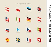 vector isometric flags with... | Shutterstock .eps vector #270999446