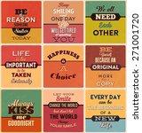 retro typographic poster design ... | Shutterstock .eps vector #271001720