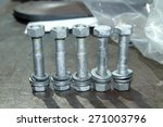 steel bolts   nuts texture | Shutterstock . vector #271003796