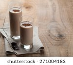 chocolate milkshake  smoothie ... | Shutterstock . vector #271004183