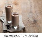 chocolate milkshake  smoothie ...   Shutterstock . vector #271004183