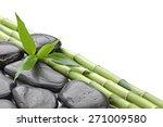 zen basalt stones and bamboo... | Shutterstock . vector #271009580