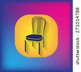 chair icon. symbol furniture.... | Shutterstock .eps vector #271014788