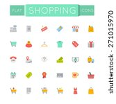 vector flat shopping icons | Shutterstock .eps vector #271015970