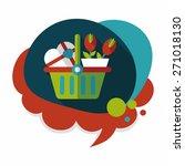 valentine's day present bucket... | Shutterstock .eps vector #271018130