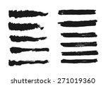 vector set of grunge brush... | Shutterstock .eps vector #271019360