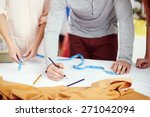 young clothing designers draw... | Shutterstock . vector #271042094