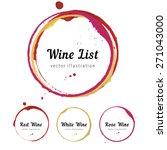 set of wine glass bottom stain... | Shutterstock .eps vector #271043000