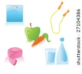 vector cute icons of healthy... | Shutterstock .eps vector #27104386
