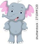 cute elephant cartoon | Shutterstock .eps vector #271049120
