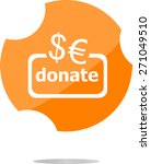 vector donate sign icon. euro...