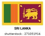 sri lanka flag isolated vector... | Shutterstock .eps vector #271051916