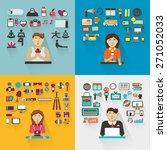 set of professions. yoga... | Shutterstock .eps vector #271052033