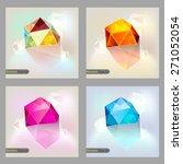 set of polygonal geometric... | Shutterstock .eps vector #271052054