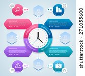 infographic. time management... | Shutterstock .eps vector #271055600