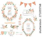 rose wreath elements   Shutterstock .eps vector #271055768