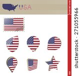 usa flag set  flag set  132.... | Shutterstock .eps vector #271055966