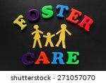 paper cutout people with foster ... | Shutterstock . vector #271057070