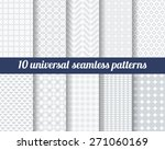 set of ten subtle seamless... | Shutterstock .eps vector #271060169