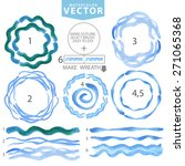 watercolor hand painting circle ... | Shutterstock .eps vector #271065368