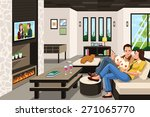 a vector illustration of couple ... | Shutterstock .eps vector #271065770