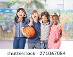 elementary school children... | Shutterstock . vector #271067084