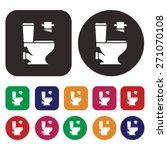 toilet icon | Shutterstock .eps vector #271070108
