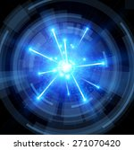 big bang with blue sparks and... | Shutterstock .eps vector #271070420