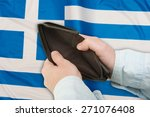 financial crisis in greece  ... | Shutterstock . vector #271076408