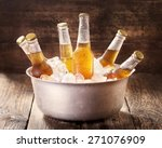 Cold Bottles Of Beer In Bucket...