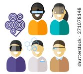 virtual reality flat icons set  ... | Shutterstock .eps vector #271078148