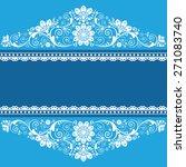vector vintage floral ... | Shutterstock .eps vector #271083740