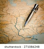 pen on a map of usa   Shutterstock . vector #271086248