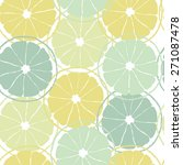 seamless pattern with lemon... | Shutterstock .eps vector #271087478