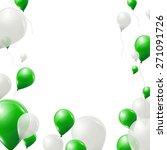 Green And White Balloons On...