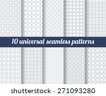 set of ten subtle seamless... | Shutterstock .eps vector #271093280