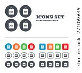 sale bag tag icons. discount... | Shutterstock .eps vector #271093649