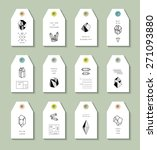 collection of 12 hang tags with ... | Shutterstock .eps vector #271093880