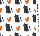 cute funny seamless pattern... | Shutterstock .eps vector #271095770