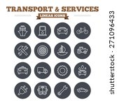 transport and services linear... | Shutterstock .eps vector #271096433