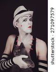 Portrait Of The Mime With A...