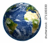 earth globe. elements of this... | Shutterstock . vector #271100330