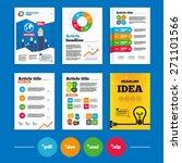 brochure or flyers design.... | Shutterstock .eps vector #271101566