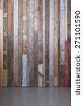 background of reclaimed timber... | Shutterstock . vector #271101590