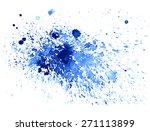 watercolor hand drawing drops....   Shutterstock .eps vector #271113899