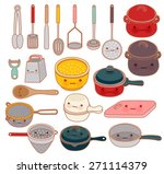 collection of lovely... | Shutterstock .eps vector #271114379