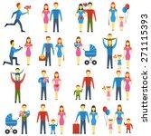 family stylized vector logo...   Shutterstock .eps vector #271115393