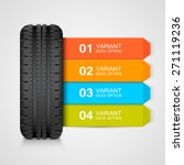 black rubber tire colorful... | Shutterstock .eps vector #271119236